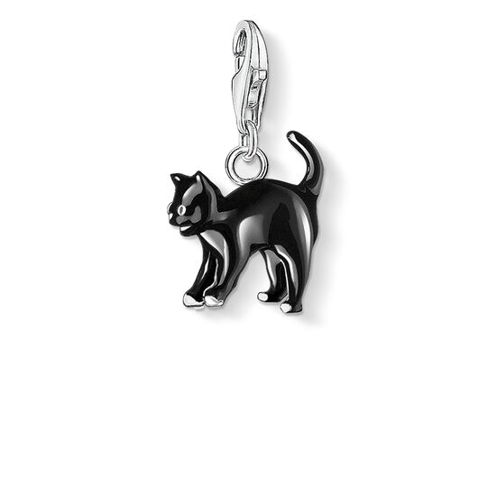 Charm pendant black cat from the Charm Club collection in the THOMAS SABO online store