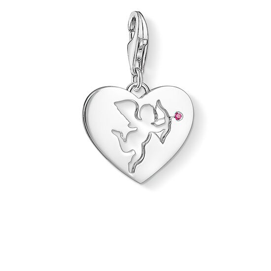 "Charm pendant ""Heart with Cupid"" from the  collection in the THOMAS SABO online store"