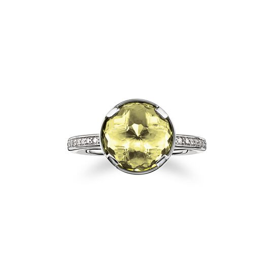 solitair ring heart chakra from the  collection in the THOMAS SABO online store