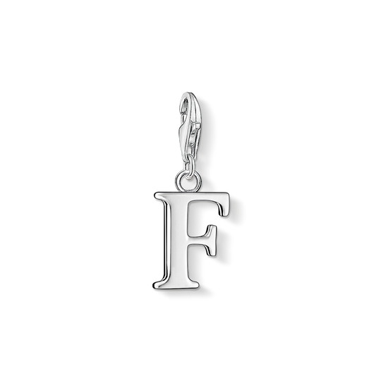 Charm pendant letter F from the Charm Club collection in the THOMAS SABO online store