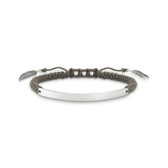 bracelet grey feather from the  collection in the THOMAS SABO online store