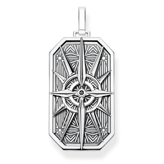pendant compass star silver from the Rebel at heart collection in the THOMAS SABO online store