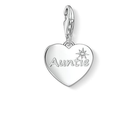 "ciondolo Charm ""AUNTIE"" from the  collection in the THOMAS SABO online store"