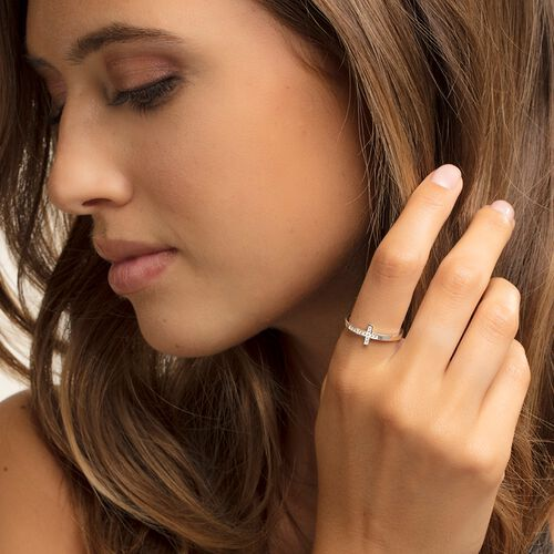 "ring ""cross"" from the Glam & Soul collection in the THOMAS SABO online store"