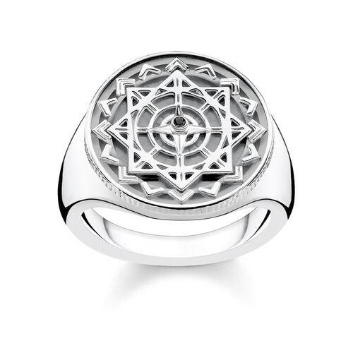 """ring """"Vintage compass silver"""" from the Glam & Soul collection in the THOMAS SABO online store"""