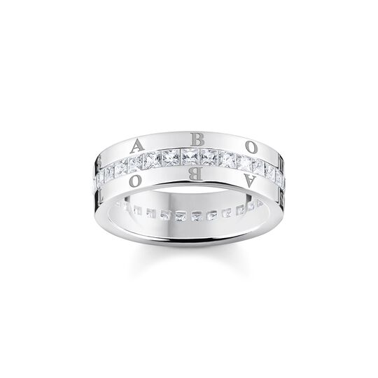 Band ring white stones pavé silver from the  collection in the THOMAS SABO online store