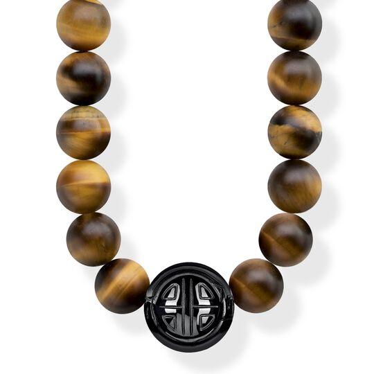 """chaîne """"Power Necklace marron"""" de la collection Glam & Soul dans la boutique en ligne de THOMAS SABO"""