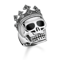 anello Teschio corona from the Rebel at heart collection in the THOMAS SABO online store