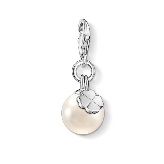 Charm pendant pearl with cloverleaf from the  collection in the THOMAS SABO online store