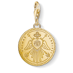 Charm pendant disc gold from the  collection in the THOMAS SABO online store