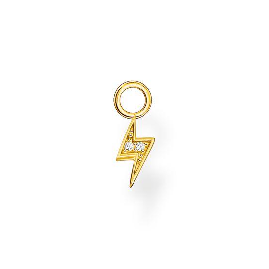 Pendentif pour boucle d'oreille unique éclairs or de la collection Charming Collection dans la boutique en ligne de THOMAS SABO