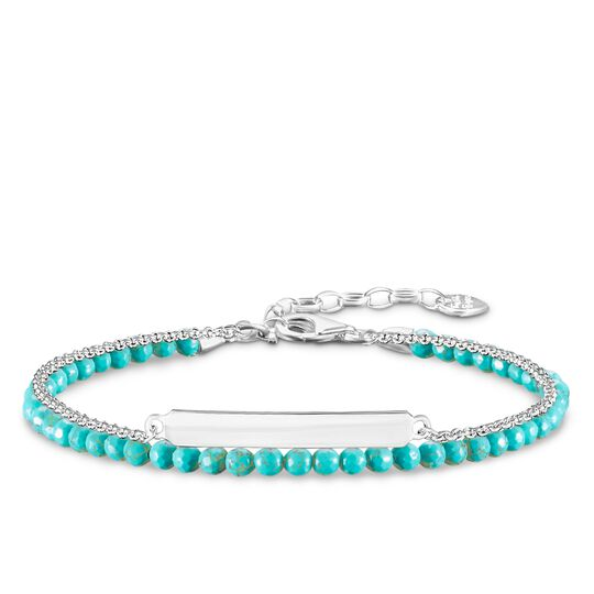 "bracelet ""turquoise"" from the Love Bridge collection in the THOMAS SABO online store"