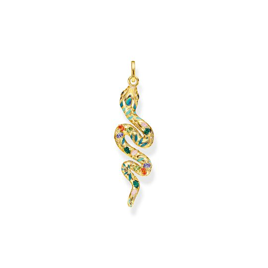 pendant bright golden-coloured snake from the  collection in the THOMAS SABO online store