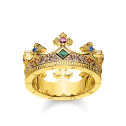 anello corona oro from the Glam & Soul collection in the THOMAS SABO online store