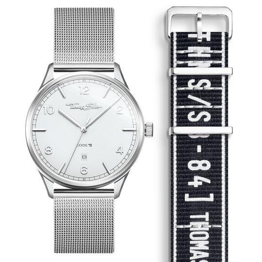 SET CODE TS vit klocka & svart armband i urban stil ur kollektionen  i THOMAS SABO:s onlineshop