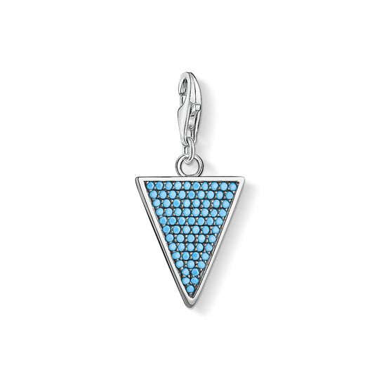 Charm pendant triangle turquoise from the Charm Club collection in the THOMAS SABO online store