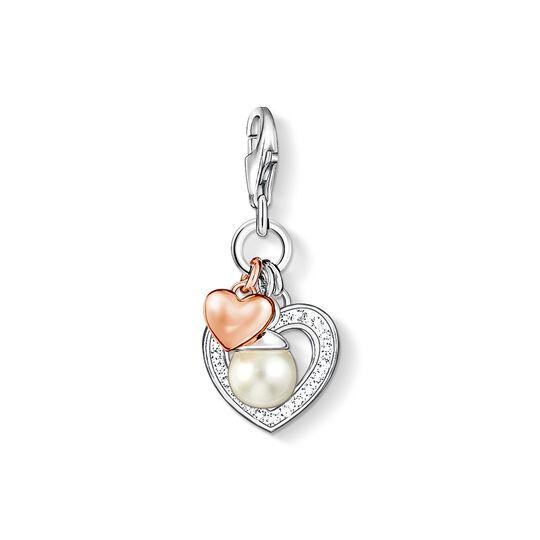 ciondolo Charm cuori e perla from the  collection in the THOMAS SABO online store
