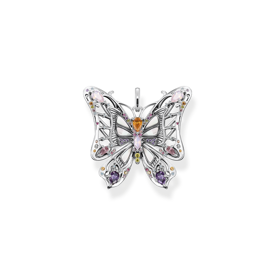 Pendant butterfly colourful stones silver from the Glam & Soul collection in the THOMAS SABO online store