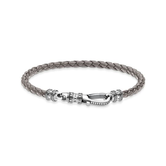 Leather bracelet grey from the  collection in the THOMAS SABO online store
