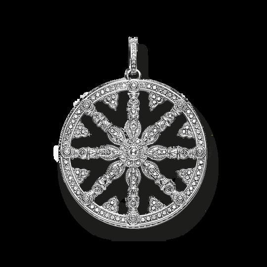 pendentif Karma Wheel blanche avec diamant de la collection Glam & Soul dans la boutique en ligne de THOMAS SABO