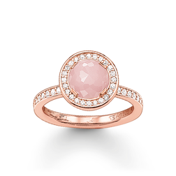 "solitaire ring ""Light of Luna pink"" from the Glam & Soul collection in the THOMAS SABO online store"