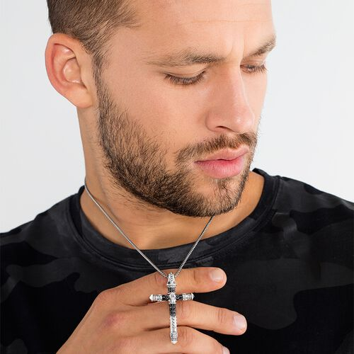 """necklace """"cross"""" from the Rebel at heart collection in the THOMAS SABO online store"""