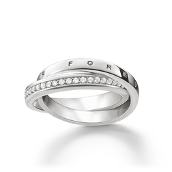 "ring ""TOGETHER FOREVER"" from the Glam & Soul collection in the THOMAS SABO online store"