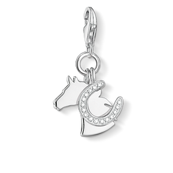 "Charm pendant ""horse with horseshoe"" from the  collection in the THOMAS SABO online store"