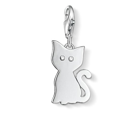 Charm pendant cat from the Charm Club collection in the THOMAS SABO online store