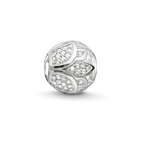 "Bead ""pavé lotus blossom"" from the Karma Beads collection in the THOMAS SABO online store"