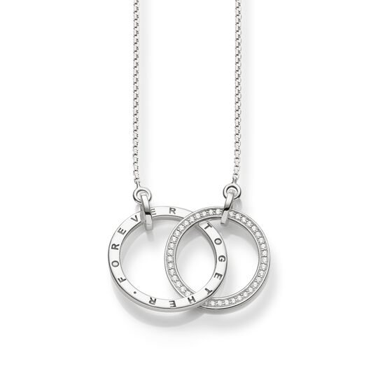 Necklace ForeverTogehter large silver from the  collection in the THOMAS SABO online store