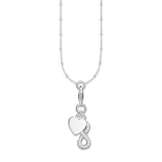 Charm necklace heart with infinity from the Charm Club collection in the THOMAS SABO online store