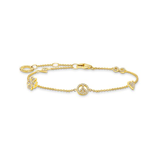 Bracelet with symbols gold from the Charming Collection collection in the THOMAS SABO online store