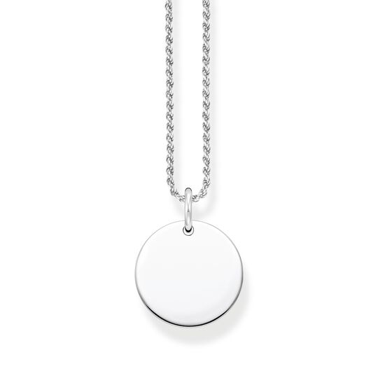 Necklace disc silver from the  collection in the THOMAS SABO online store