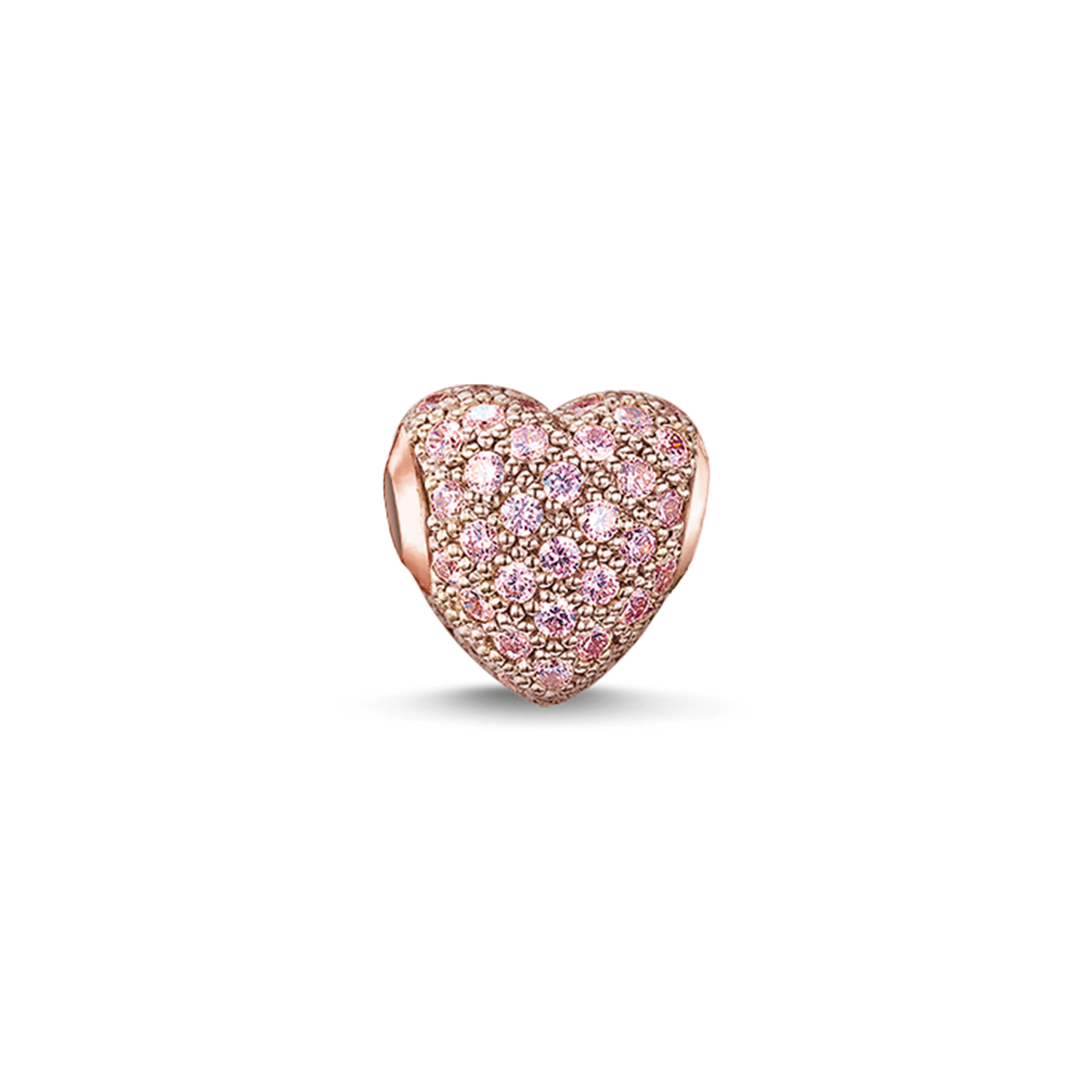 "Thomas Sabo - Bead ""hot  pavé heart"" pink - 1"