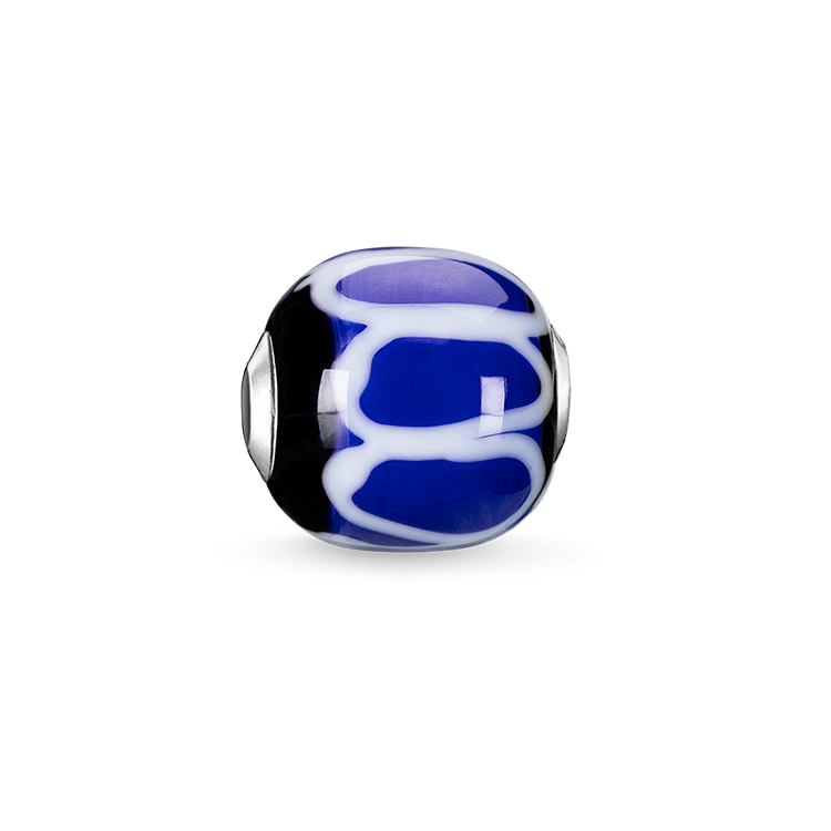 """Thomas Sabo - Bead """"Glass Bead Blue, black, white"""" - 1"""