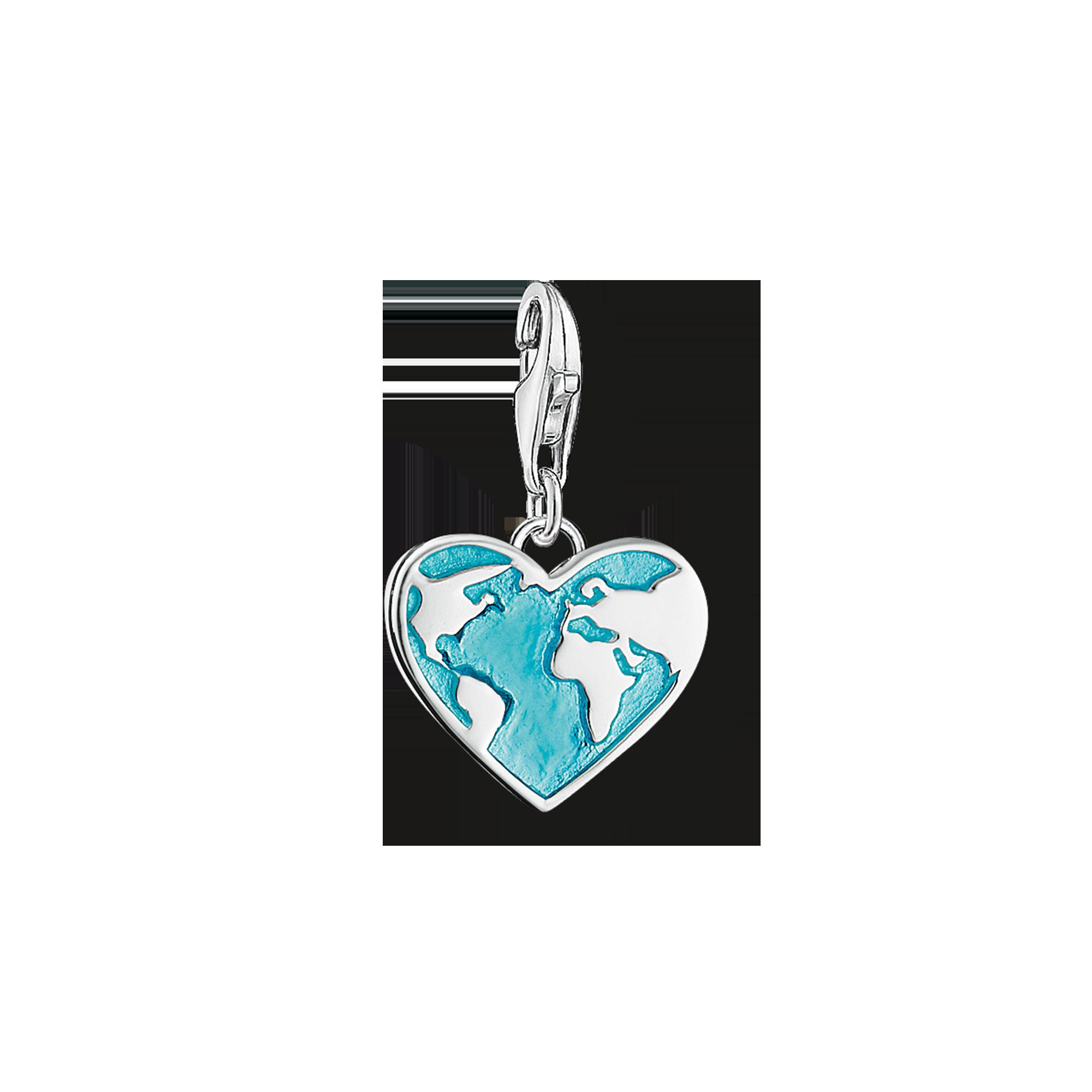 "Thomas Sabo - Charm pendant ""heart globe"" - 1"