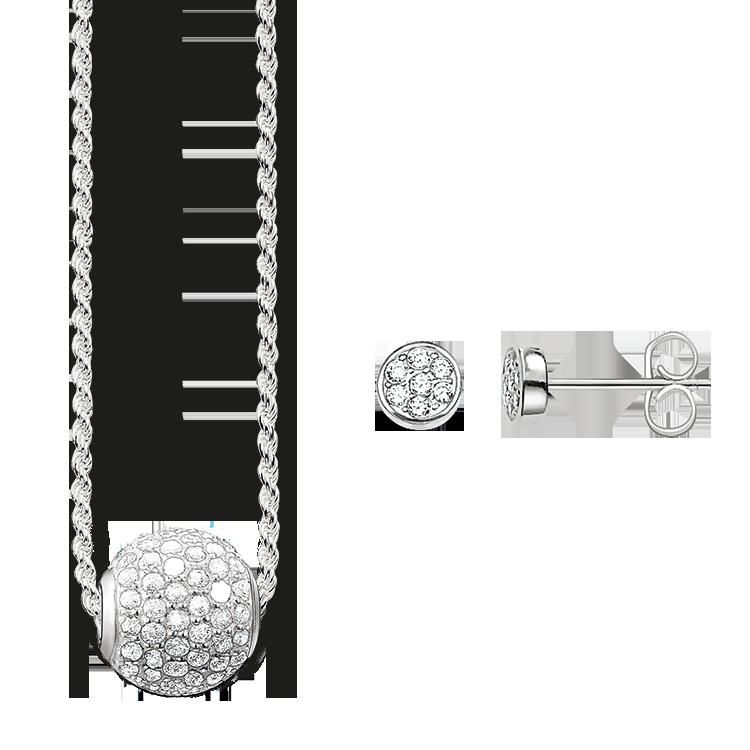 Thomas Sabo - necklace & ear studs - 1