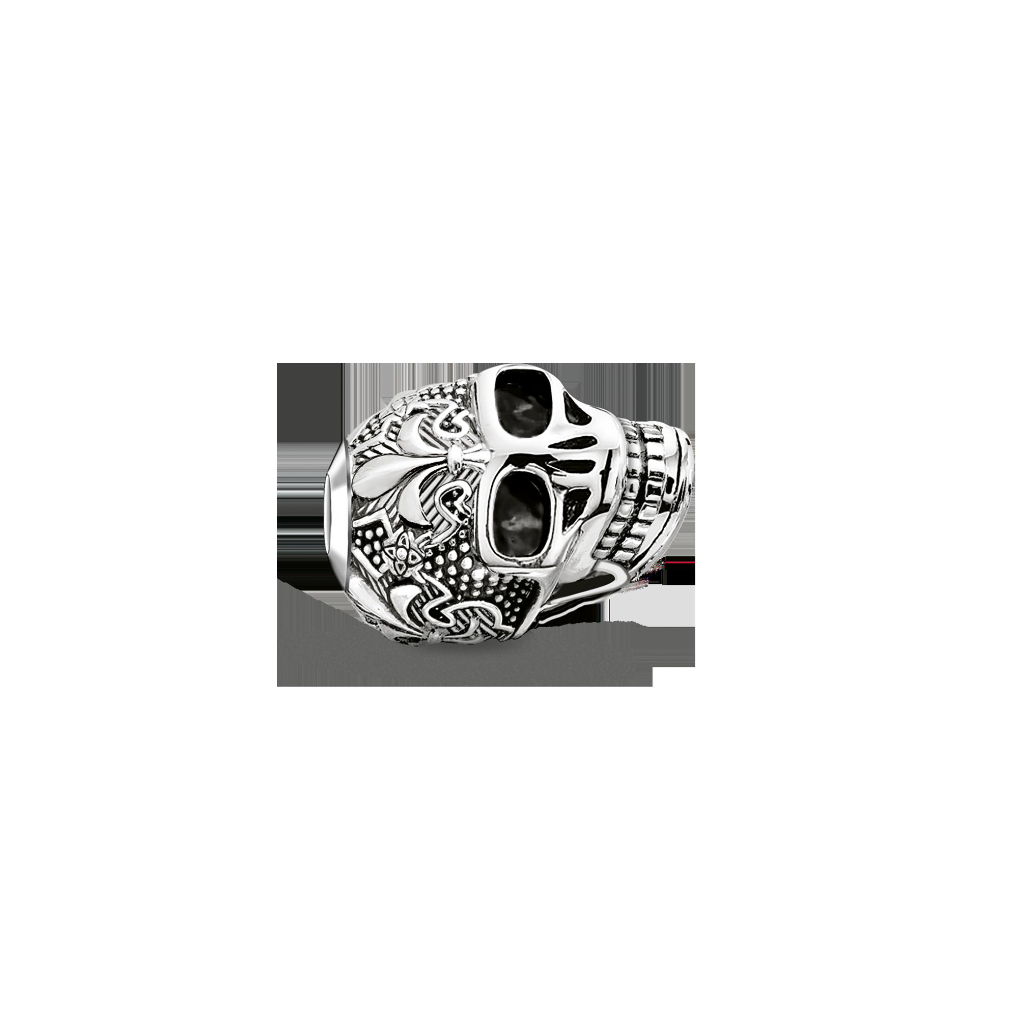 "Thomas Sabo - Bead ""skull with lily"" - 1"