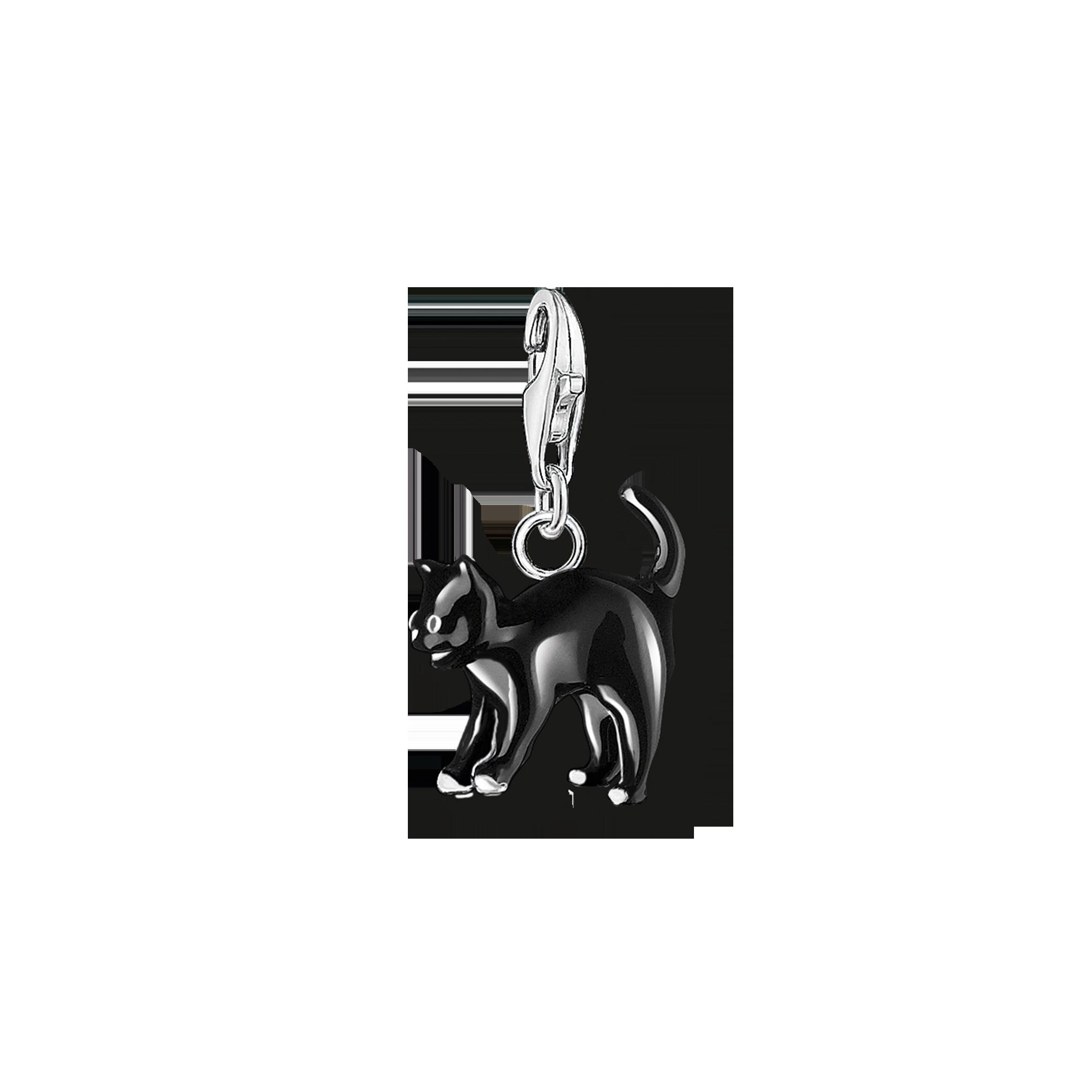 "Thomas Sabo - Charm pendant "" cat"" black - 1"