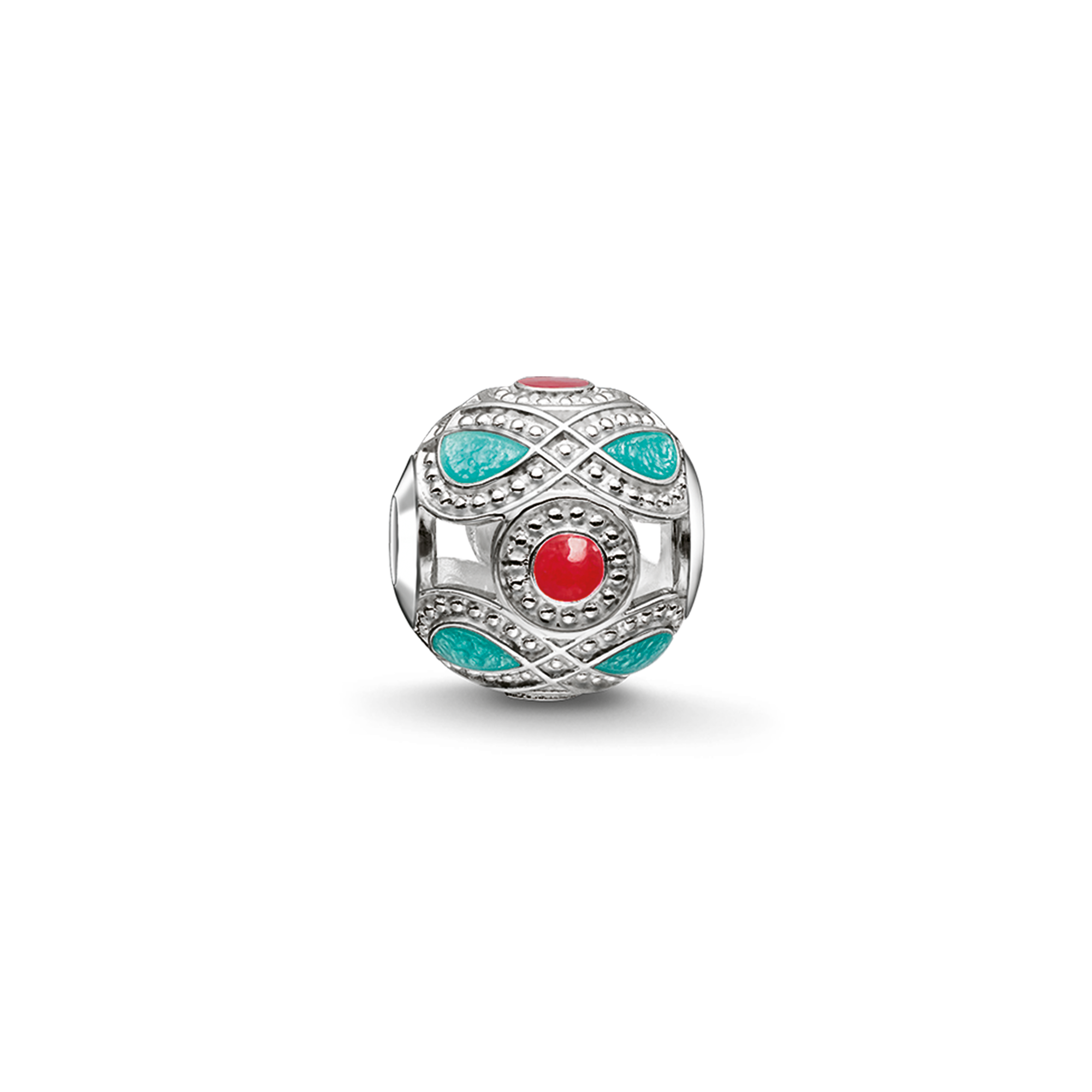 """Thomas Sabo - Bead """"turquoise and red ethnic"""" - 1"""