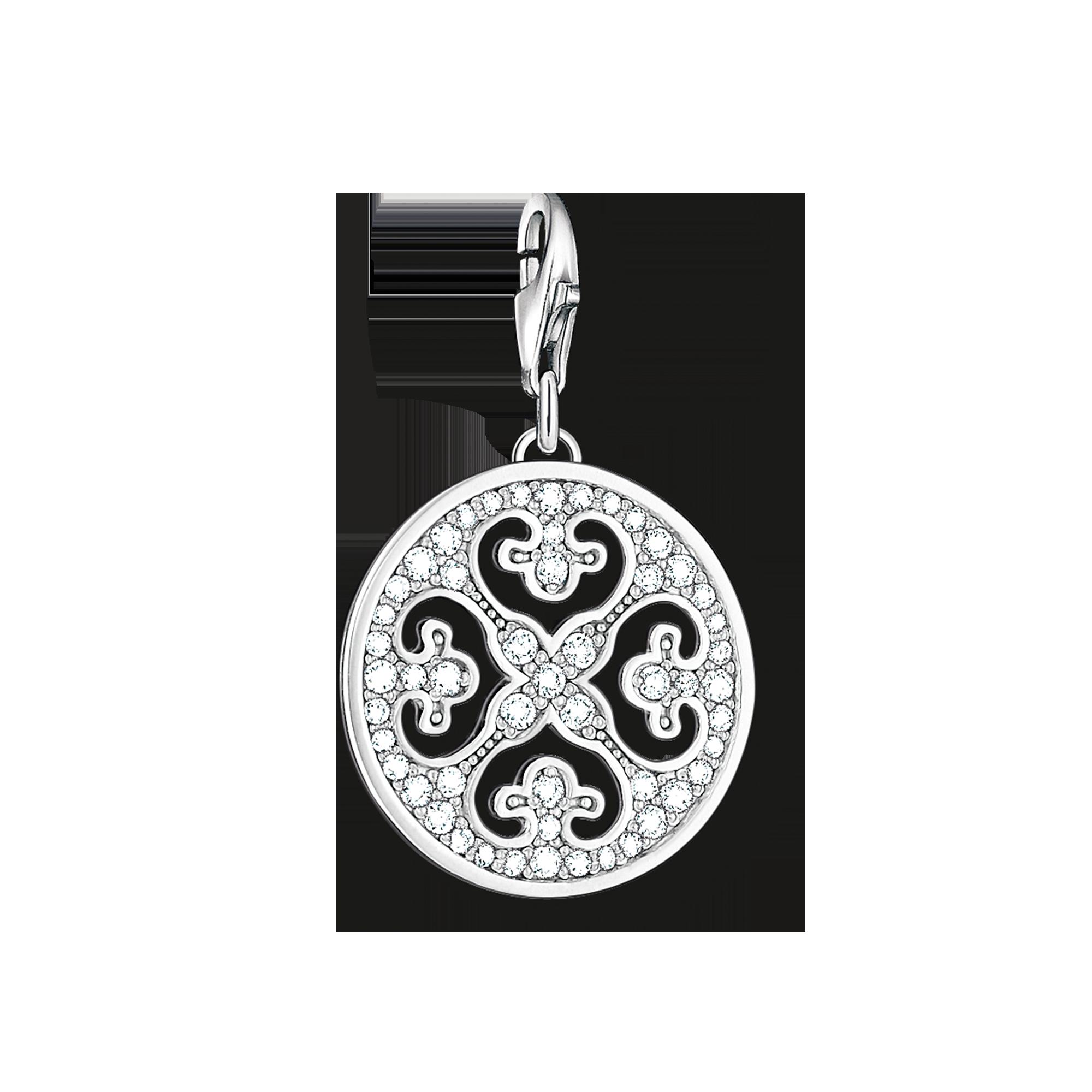 "Thomas Sabo - colgante Charm ""ornamento"" blanco - 1"