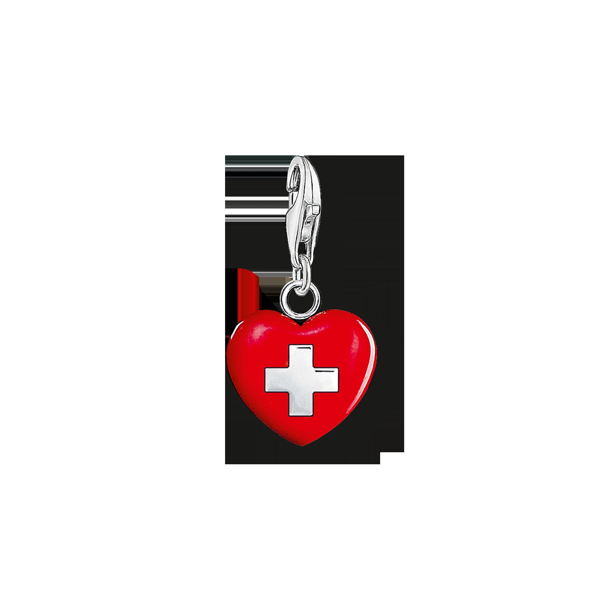 "Thomas Sabo - Charm pendant ""heart Switzerland"" - 1"