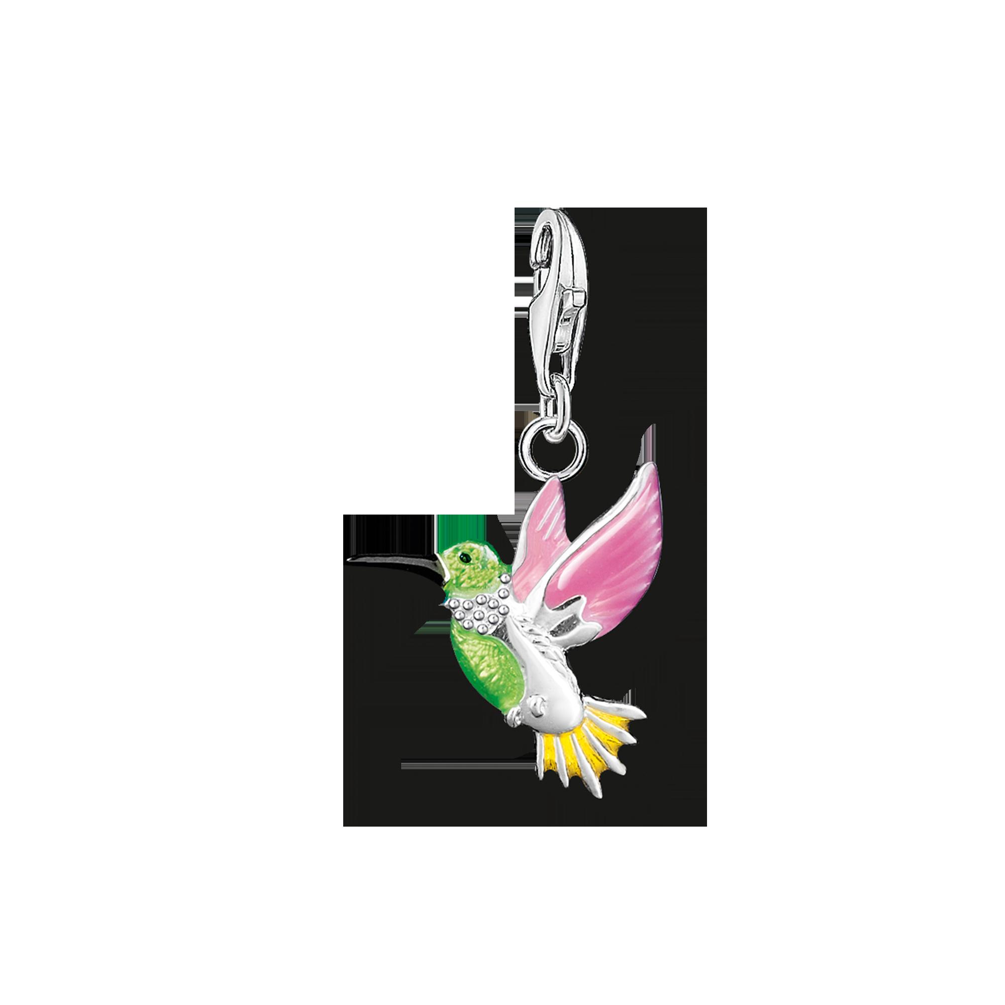 "Thomas Sabo - Charm pendant ""colourful hummingbird"" - 1"