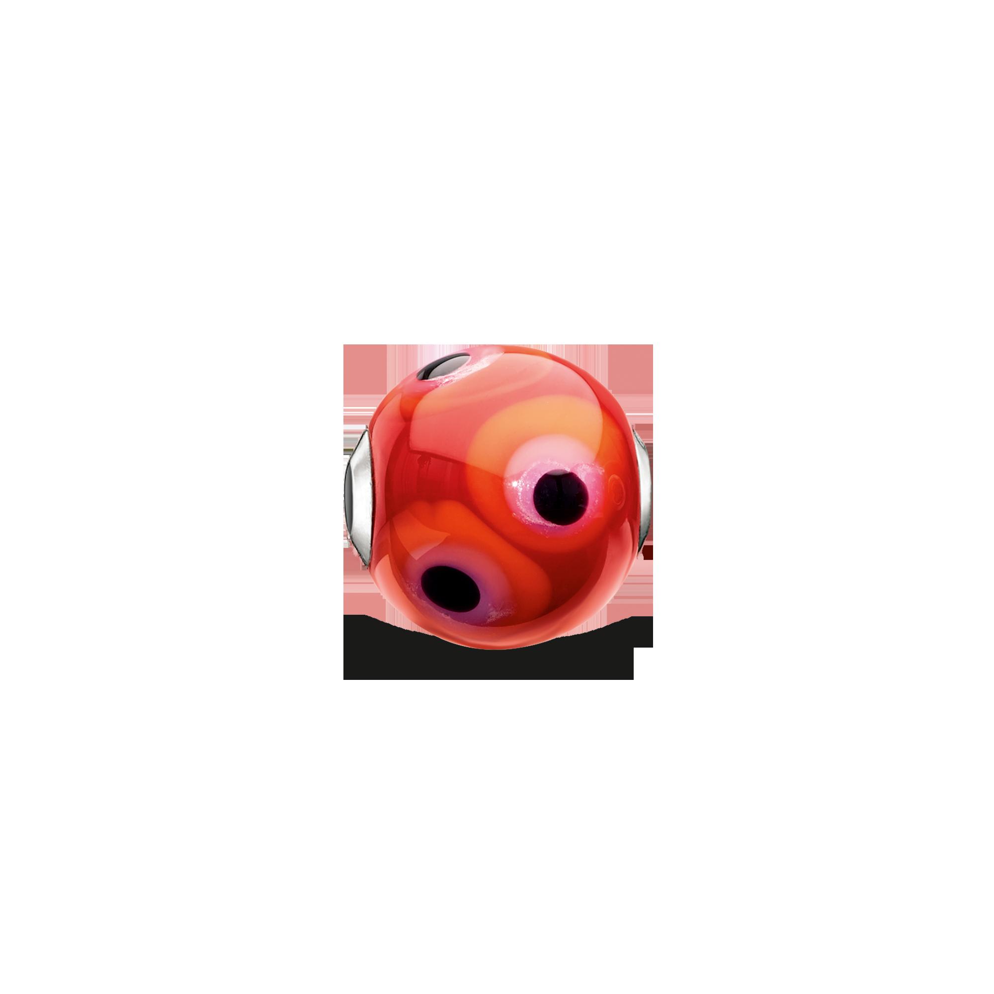 """Thomas Sabo - Bead """"Glass Bead Red, Black, Hot Pink, Orange"""" - 1"""
