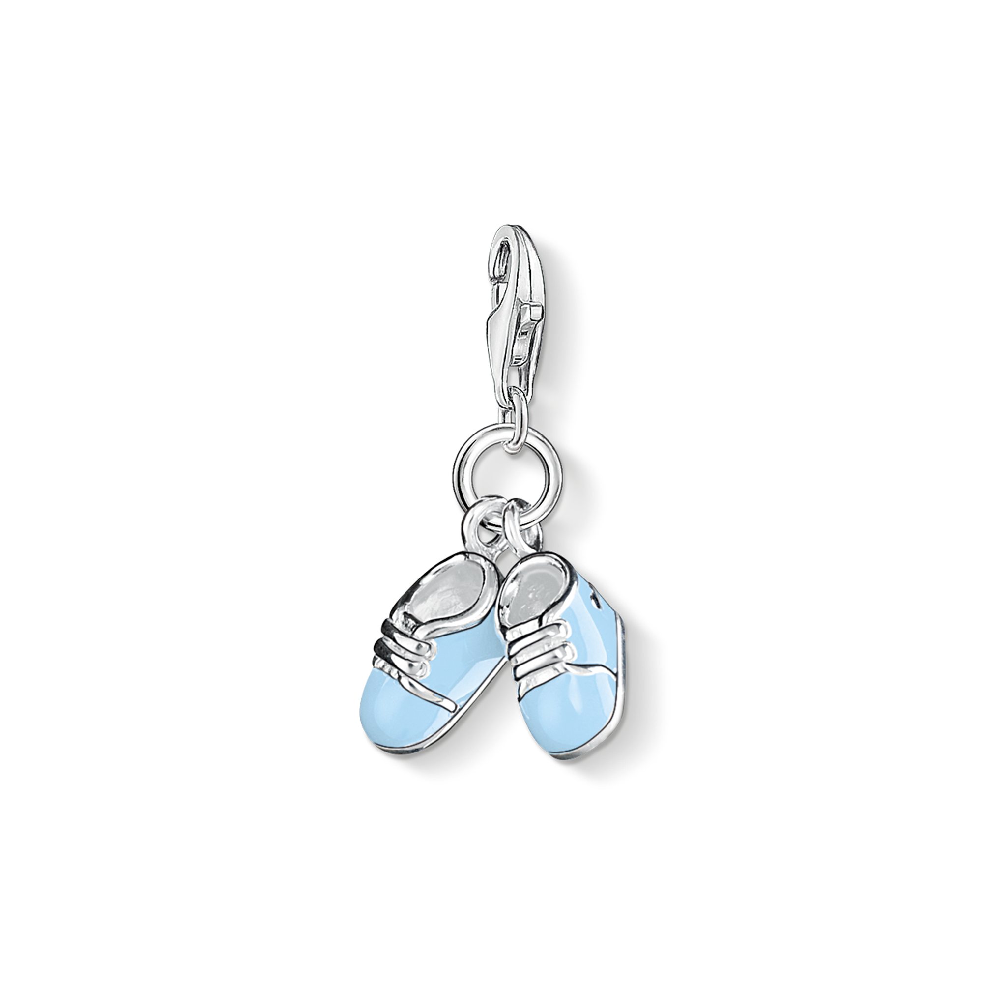 "Thomas Sabo - Charm pendant "" baby shoes"" blue - 1"