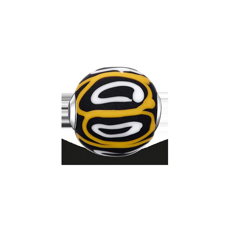 """Thomas Sabo - Bead """"Glass Bead Yellow, white, black"""" - 1"""