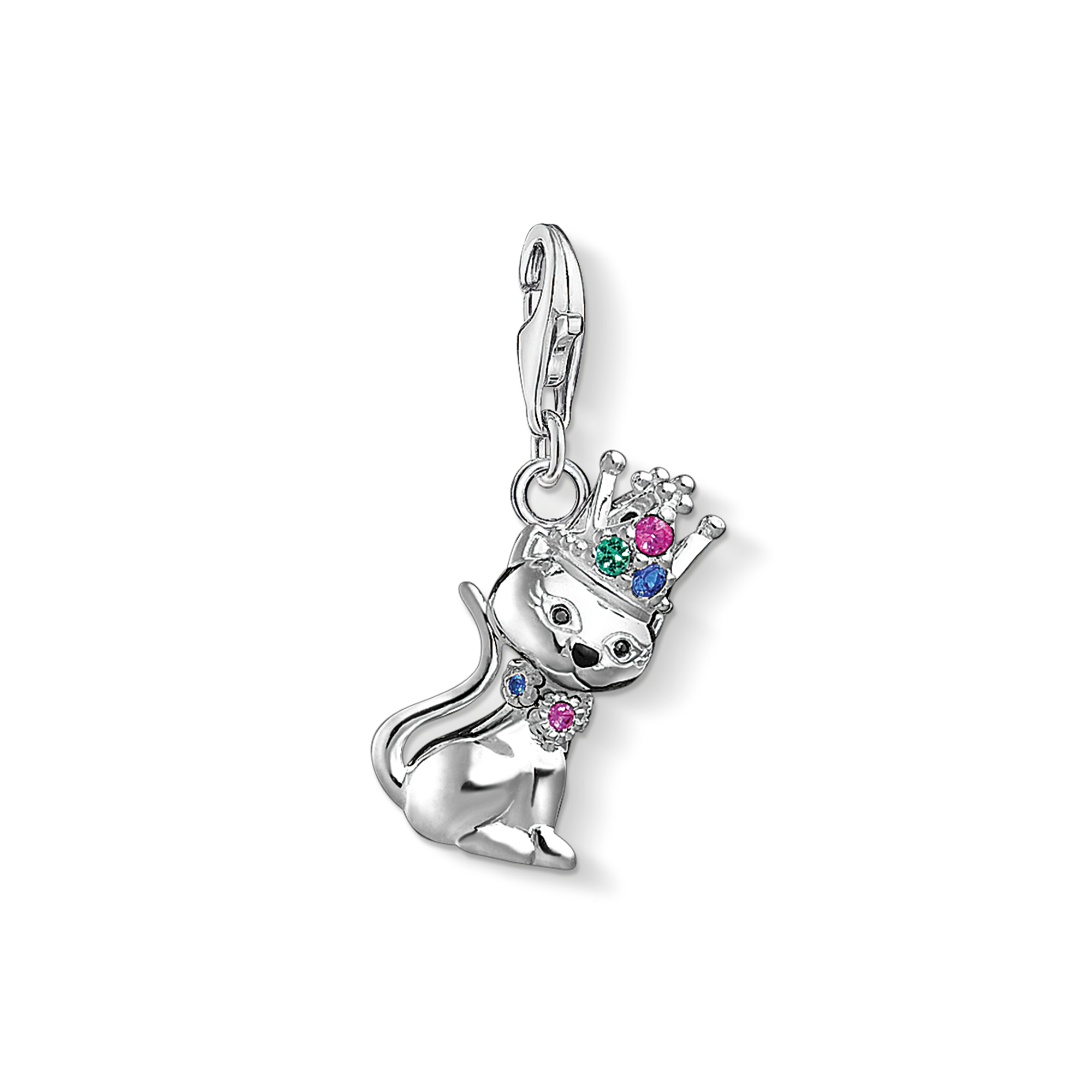 """Thomas Sabo - Charm pendant """"Cat with crown """" - 1"""