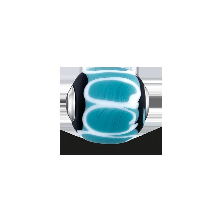"""Thomas Sabo - Bead """"Glass Bead Turquoise, black, white"""" - 1"""